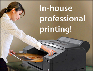 In house professional printing!